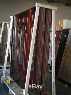 Prémontée Avec Verre Classique Façade Extérieure Extérieure Porte D'entrée Entrée 36 × 80
