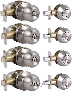 Tous Les Boutons Keyed Même Porte D'entrée Avec Double Cylindre Deadbolt Pour L'avant Extérieur