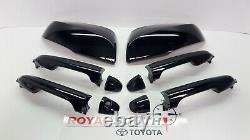 Toyota Tacoma Double Cab 20-21 Black 218 Poignées De Porte Et Kit Miroir Avec Entrée Smart